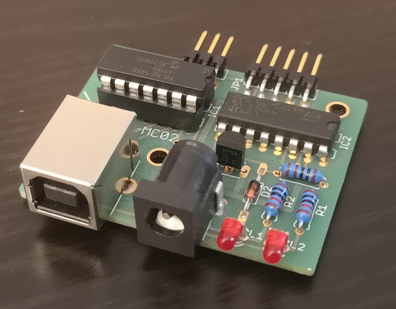 USB Motor controller MC02 PCB